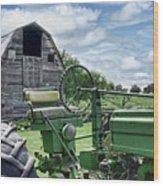 Tractor Barn Wood Print