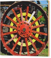 Tractor Big Wheel Wood Print