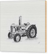 Case Tractor Wood Print