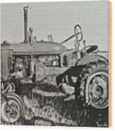 Tractor Wood Print by Mary Capriole