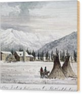 Trading Outpost, C1860 Wood Print
