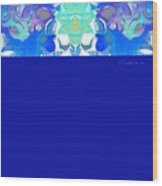 Tradition Blue Wood Print