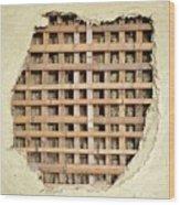 Traditional Bamboo Mud Wall Construction Wood Print