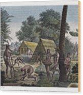 Traditional Customs Of The Chamorro Classes Wood Print