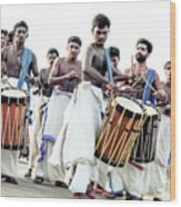 Traditional Drummers Wood Print