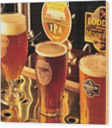 Traditional English Beers Wood Print