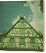 Traditional House Roth Germany Cross Process Holga Photography Wood Print