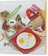 Traditional Israeli Breakfast Wood Print