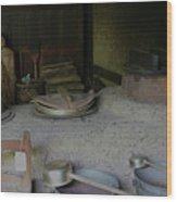 Traditional Japanese Kitchen Wood Print