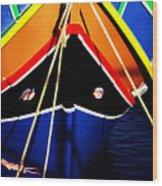 Traditional Maltese Fishing Boat Wood Print