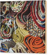 Traditional Moroccan Rugs Wood Print