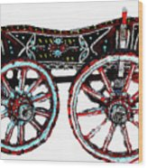 Traditional Painted Donkey Cart  Wood Print