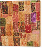 Traditional Patchwork Tapestry Wood Print