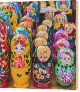 Traditional Russian Matrushka Nesting Puzzle Dolls Wood Print
