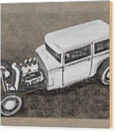 Traditional Styled Hot Rod Sedan Wood Print