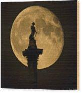 Trafalgar Moon Wood Print