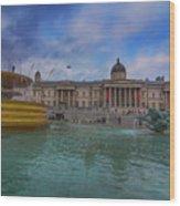 Trafalgar Square Fountain London 12 Wood Print