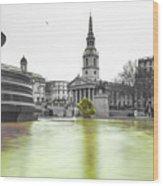 Trafalgar Square Fountain London 3c Wood Print