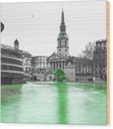 Trafalgar Square Fountain London 3f Wood Print