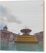 Trafalgar Square Fountain London 9 Wood Print