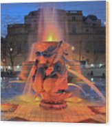 Trafalgar Square Fountain Wood Print