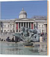 Trafalgar Square London Wood Print