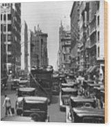 Traffic On Fifth Avenue Wood Print