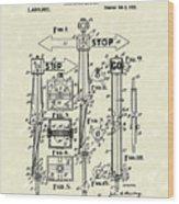 Traffic Signal 1922 Patent Art Wood Print