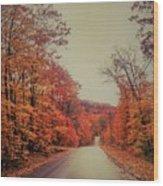 Straight And Narrow  Wood Print
