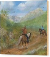 Trail Ride In Sabino Canyon Wood Print