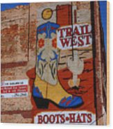 Trail West Mural Wood Print