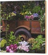 Trailer Full Of Flowers Wood Print