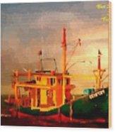 Trailer Ship H A Wood Print