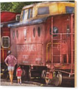 Train - Car - Pennsylvania Northern Region Caboose 477823 Wood Print