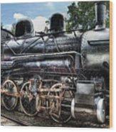 Train - Engine - 385 - Baldwin 2-8-0 Consolidation Locomotive Wood Print