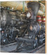Train - Engine - Steam Locomotives Wood Print