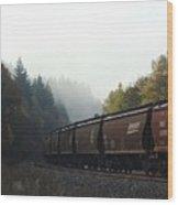 Train 2 Wood Print