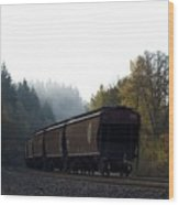 Train 3 Wood Print