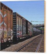 Train Colors 1 Wood Print