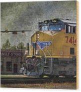Train Coming Through Wood Print