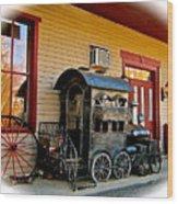 Train Depot Wood Print