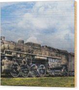 Train - Engine - Nickel Plate Road Wood Print by Mike Savad