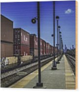 Train From Chicago Wood Print