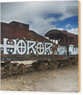 Train Graveyard Uyuni Bolivia 13 Wood Print
