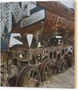 Train Graveyard Uyuni Bolivia 14 Wood Print