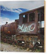 Train Graveyard Uyuni Bolivia 16 Wood Print