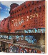 Train Graveyard Uyuni Bolivia 17 Wood Print