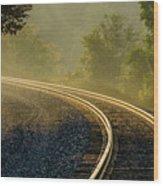 Train Lines Wood Print