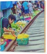 Train Market 2323 Wood Print