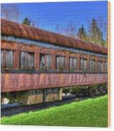 Train No. 91 Wood Print